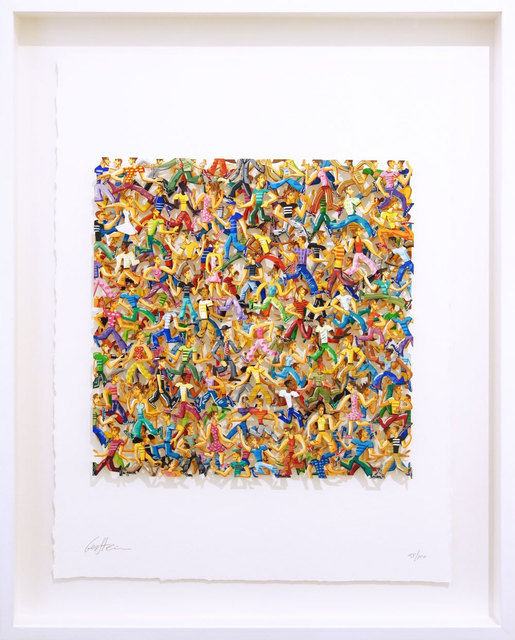 David Gerstein, 'Rush Hour', 2007, Drawing, Collage or other Work on Paper, 3D-Papercut on 2 layers, individually hand painted, Galerie Kellermann
