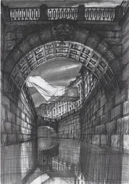 , 'Architectural contrasts 1. Bridge,' 2015, Antonia Jannone Disegni di Architettura