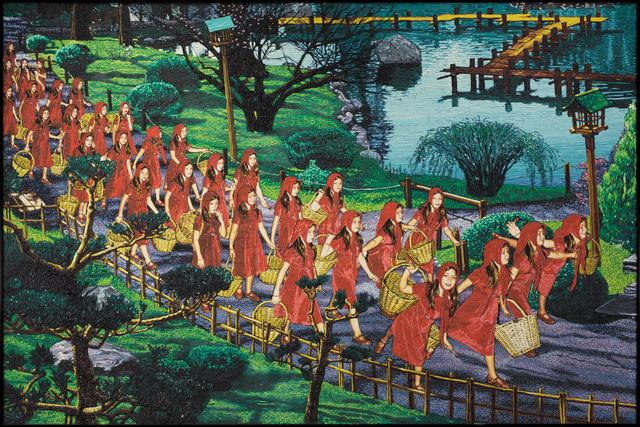 , '32 Caperucitas con canasta vacia sin lobo,' 2004, Track 16 Gallery