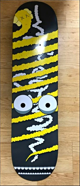 KAWS, 'Yellow Snake (Limited Edition, Numbered) Skate Deck', ca. 2005, Alpha 137 Gallery Auction