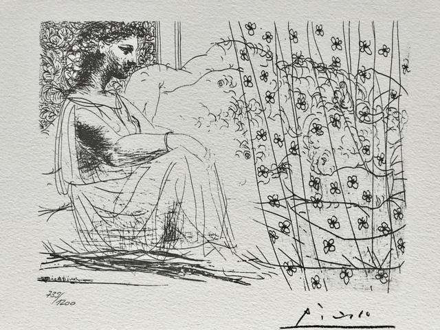Pablo Picasso, 'Minotaure endormi comptemplé par une femme (Suite Vollard Planche LXXXVI)', 1973, ByNewArt
