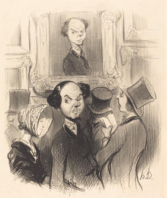 Honoré Daumier, 'Charmé de se voir exposé...', 1841, National Gallery of Art, Washington, D.C.