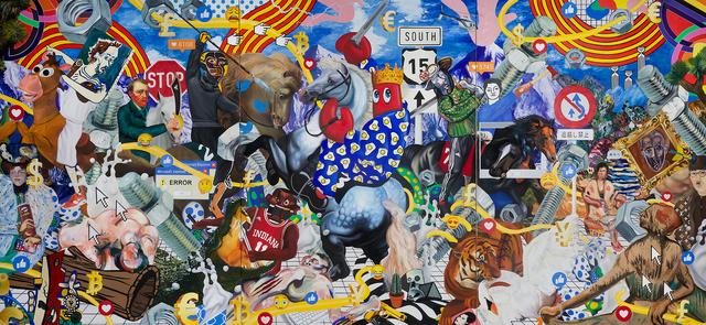 , 'Dream Hunt Triptych,' 2018, Whitestone Gallery