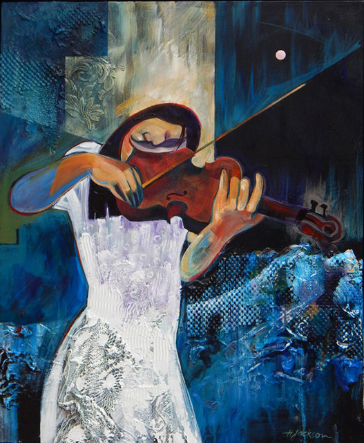 , 'Violinist in White,' , Zenith Gallery