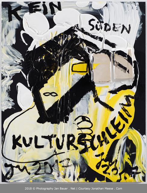 Jonathan Meese, 'Kein Kulturmutant 2, Bitte...: Nicht Mal Saubilly ist Hier', 2017, Boers-Li Gallery