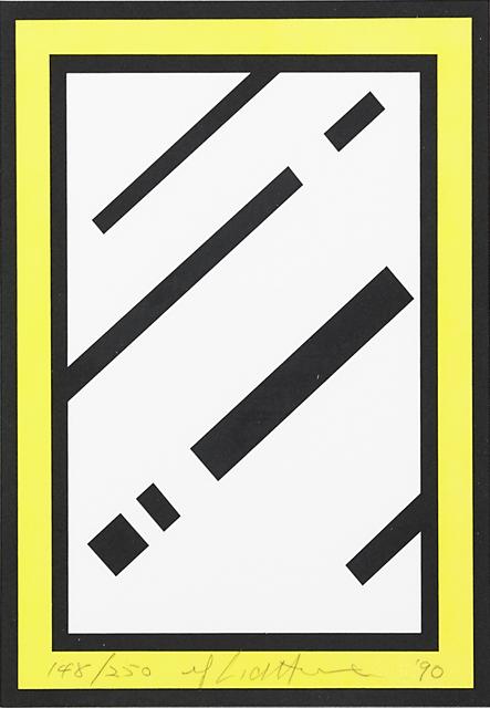 Roy Lichtenstein, 'Mirror, from Harvey Gantt Portfolio', 1990, Print, Screenprint in colors on 4-ply board, Rago/Wright