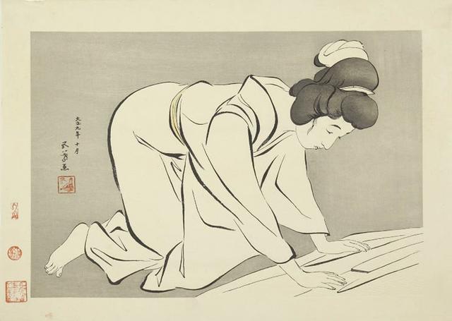 , 'Woman Folding Kimono,' Designed 1920, Ronin Gallery