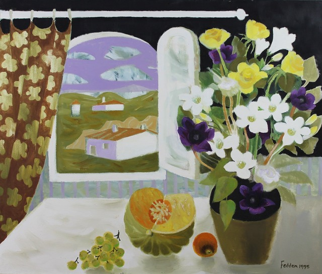 , 'Still Life with Flowers and Fruit by an Open Window,' 1995, Castlegate House Gallery