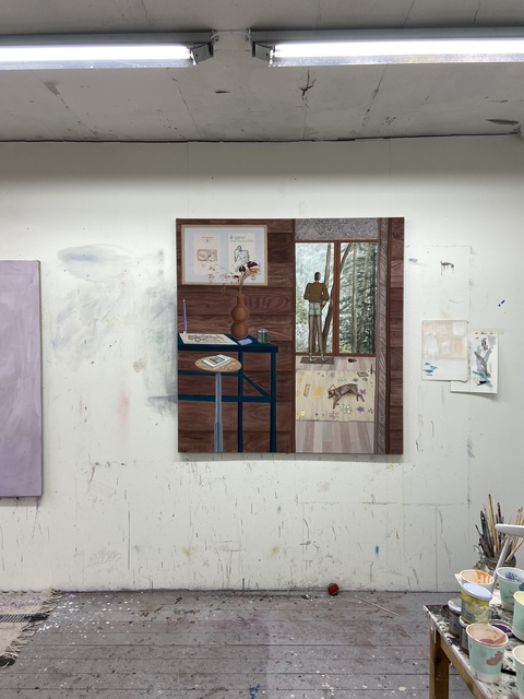 Charlie Roberts, 'Santa Cruz Mountain Studio', 2021, Painting, Flashe paint and pastel on linen, Golsa
