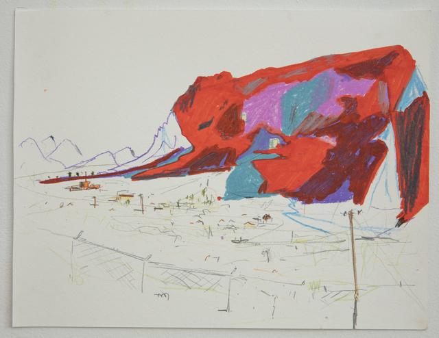 Lisa Sanditz, 'Mountain 1', 2016, Drawing, Collage or other Work on Paper, Colored pencil on paper, Jonathan Ferrara Gallery