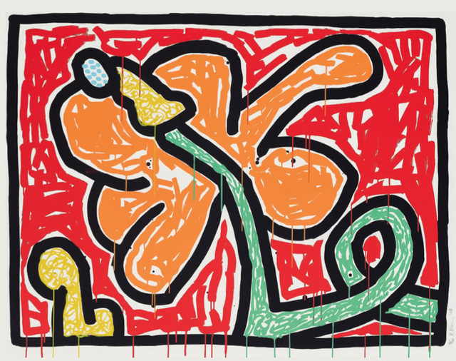 Keith Haring, 'Flowers (5)', 1990, Fine Art Mia
