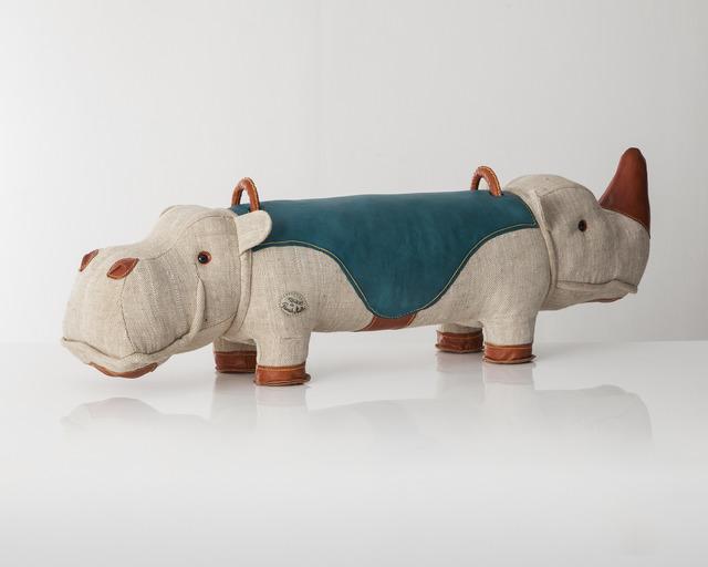 ", 'Double-face ""Therapeutic Toy"" Hippopotamus-Rhinoceros,' 2013, R & Company"