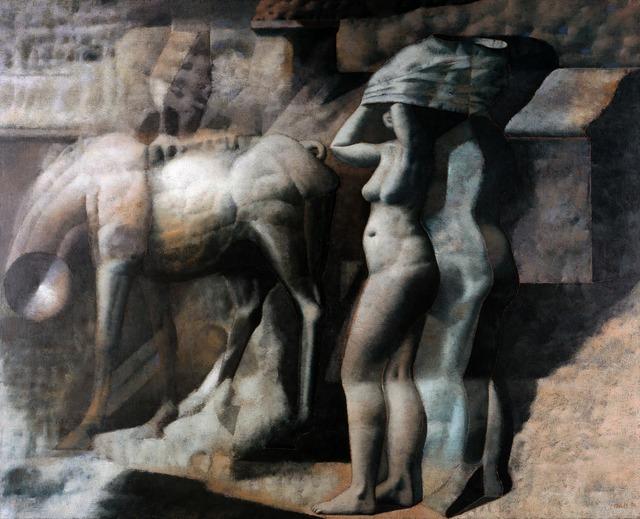 Armando Morales, 'Nude, Horse, Incinerator', 1974, Blanton Museum of Art