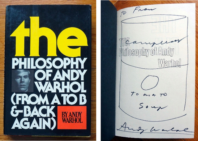 """Andy Warhol, '""""Campbell's Soup Can"""", 1975, Drawing/Signed Book, """"The Philosophy of Andy Warhol""""', 1975, VINCE fine arts/ephemera"""