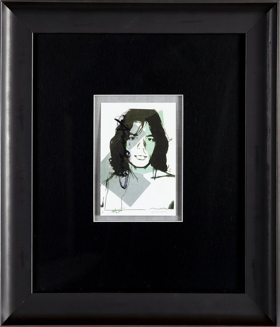 Andy Warhol, 'Andy Warhol  Andy Warhol Mick Jagger FS.II.138 Hand Signed Gallery Announcement Invitation', 1970-2000, Drawing, Collage or other Work on Paper, Lithograph, Modern Artifact
