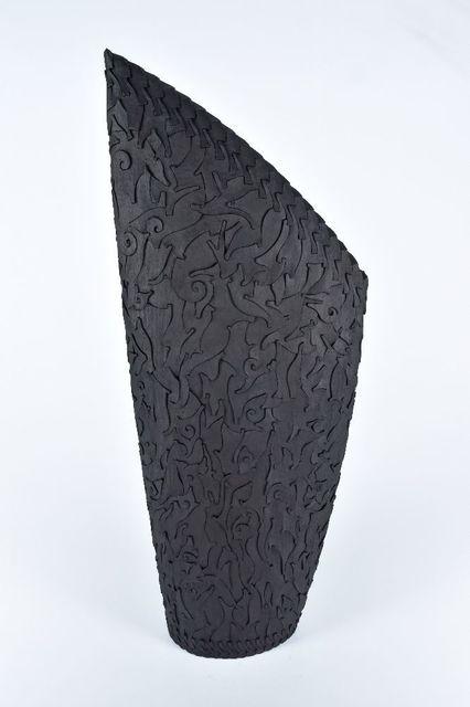 , 'Stele with Organic Pattern,' 2019, Blue Spiral 1