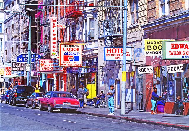 Mitchell Funk, 'Turk Street in the Tenderloin San Francisco', 1999, Robert Funk Fine Art