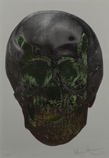 Damien Hirst, 'Till Death Do Us Part (Dove Grey Gunmetal Leaf Green Skull)', 2012, Forum Auctions