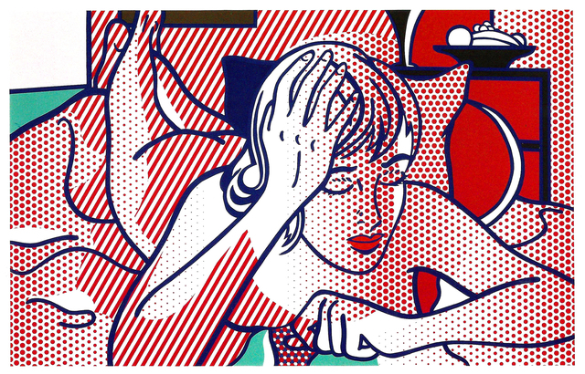 Roy Lichtenstein, 'Thinking Nude, State I', 1994, Print, Relief on Rives BFK mold-made paper, Meyerovich Gallery