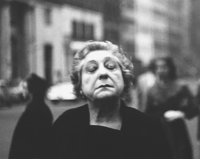 , 'Woman on the street with her eyes closed, N.Y.C.,' 1956, San Francisco Museum of Modern Art (SFMOMA)