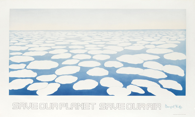 Georgia O'Keeffe, 'SAVE OUR PLANET SAVE OUR AIR', 1971, Swann Auction Galleries