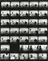 , 'Contact Sheet for Duchamp Playing Chess with a Nude (Eve Babitz), Duchamp Retrospective, Pasadena Art Museum,' 1963, Robert Berman Gallery