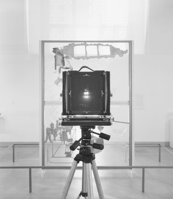 , '#22 of 36 Modified Deardorff 8 x 10 Field Camera photographing Marcel Duchamp, The Bride Stripped Bare by Her Bachelors, Even (The Large Glass) (1915-23),' 2013-2014, Galleria Franco Noero