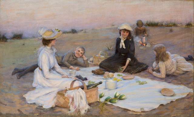 , 'Picnic Supper on the Sand Dunes,' 1890, Godel & Co.