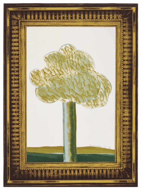 David Hockney, 'A picture of a landscape in an elaborate gold frame, from A Hollywood Collection', 1965, Christie's