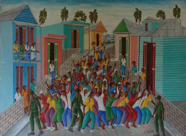 , 'Protest Against the Macoutes,' 1982, Myriam Nader Haitian Art Gallery