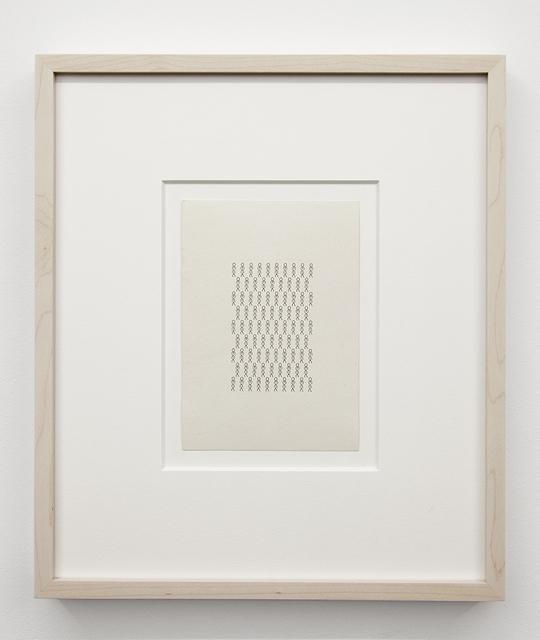 , 'Strukturblätter,' ca. 1980, ChertLüdde