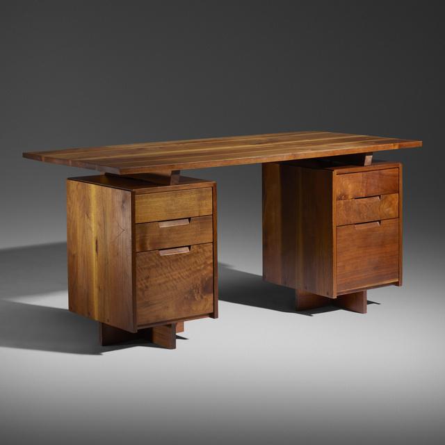 George Nakashima, 'Double Pedestal desk', 1966, Wright