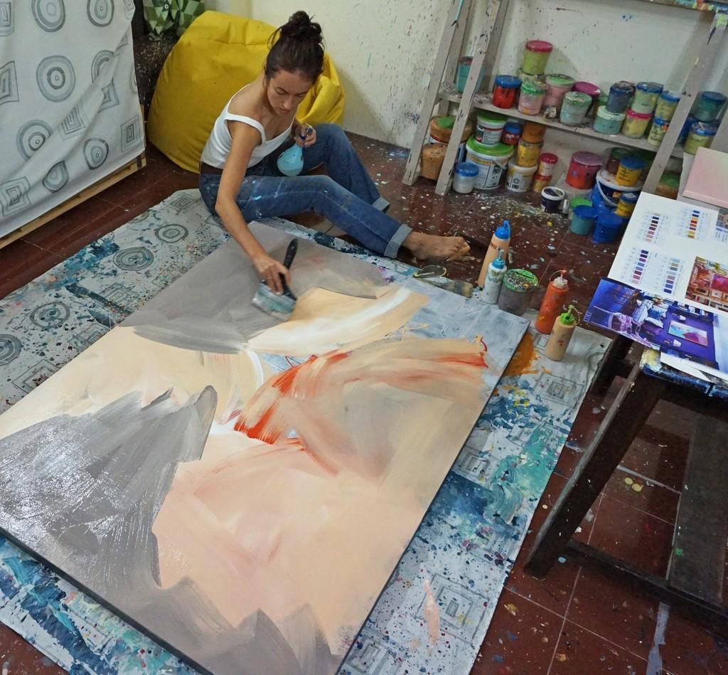 Yulia at work