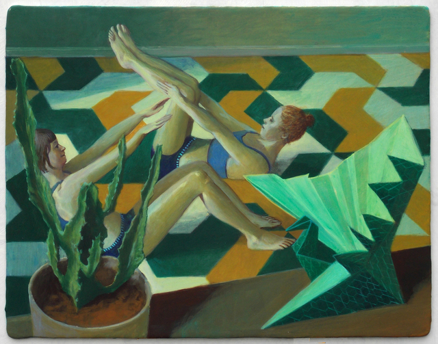 , 'Green Interior II,' 2013, Monica De Cardenas