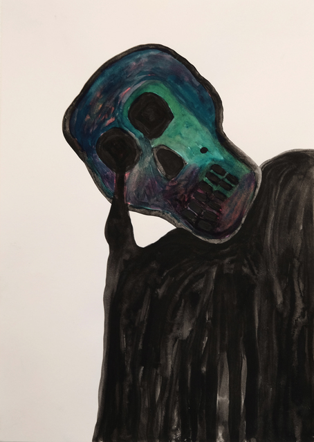 , 'Melting Skull,' 2015, Charlie Smith London