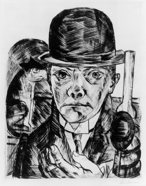 , 'Self-Portrait in Bowler Hat,' 1921, Museum of Fine Arts, Boston