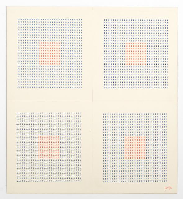 , 'Dattilocodice (Typecode) #7,' 1978, Tiziana Di Caro