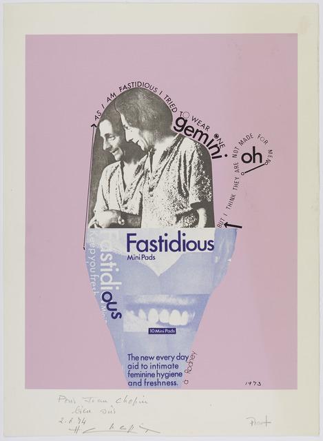 , 'Fastidious,' 1974, Supportico Lopez