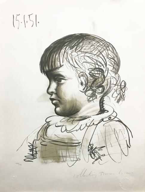 Pablo Picasso, 'PORTRAIT D'ENFANT', 1979-1982, Reproduction, LITHOGRAPH ON ARCHES PAPER, Gallery Art