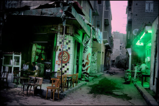 , 'During the Ramadan. A normally very busy street deserted by citizens for the first meal of the day. Cairo, Egypt. ,' 1987, Magnum Photos