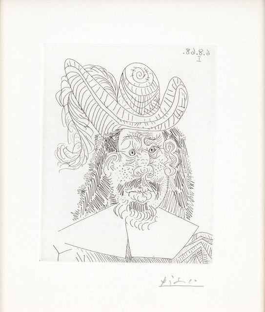 , ' Portrait of An Old Red-faced Musketeer,' 1968, Wada Garou Tokyo