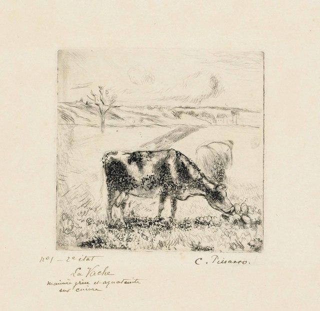 Camille Pissarro, 'La Vache', 1885, Christie's