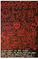 Keith Haring, 'Keith Haring 84', Tony Shafrazi Gallery, 1984, Street Advertising Poster, RARE
