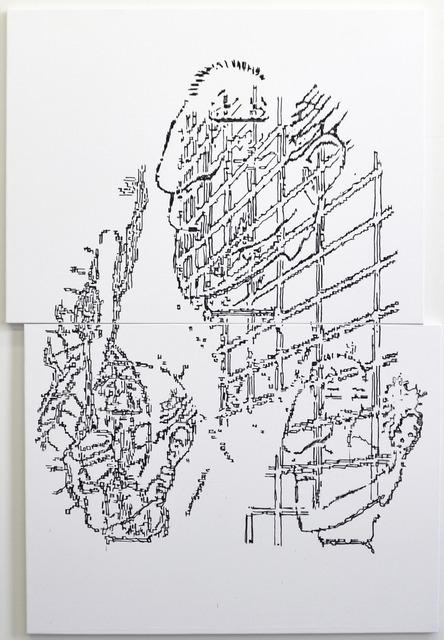 , '6 Figures Askew,' 2015, Johannes Vogt Gallery