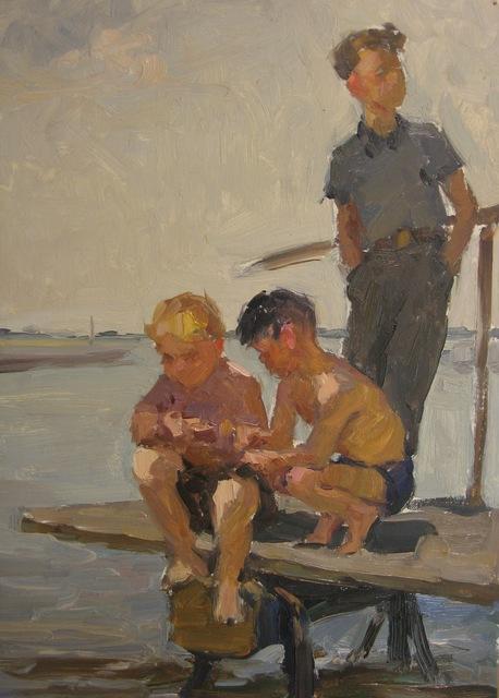 Nadezhda Eliseevna Chernikova, 'Fishing', 1958, Surikov Foundation
