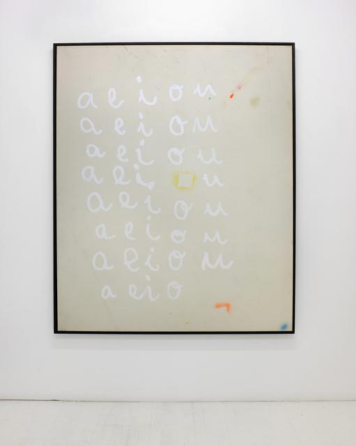 , 'vowels,' 2014, L21