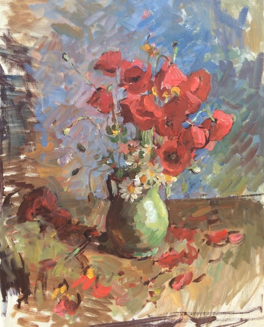 , 'Poppies II,' 2018, Grenning Gallery