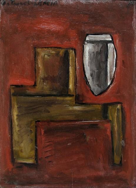 , 'Deux structures sur fond rouge,' 1931, Galerie Thomas