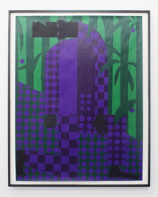 , 'Man in the Violet Dreamscape No. 4 (Kneeling),' 2018, Rubber Factory