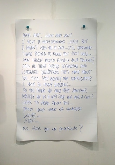 , 'Dear Art,' 2015, Galleria Ca' d'Oro